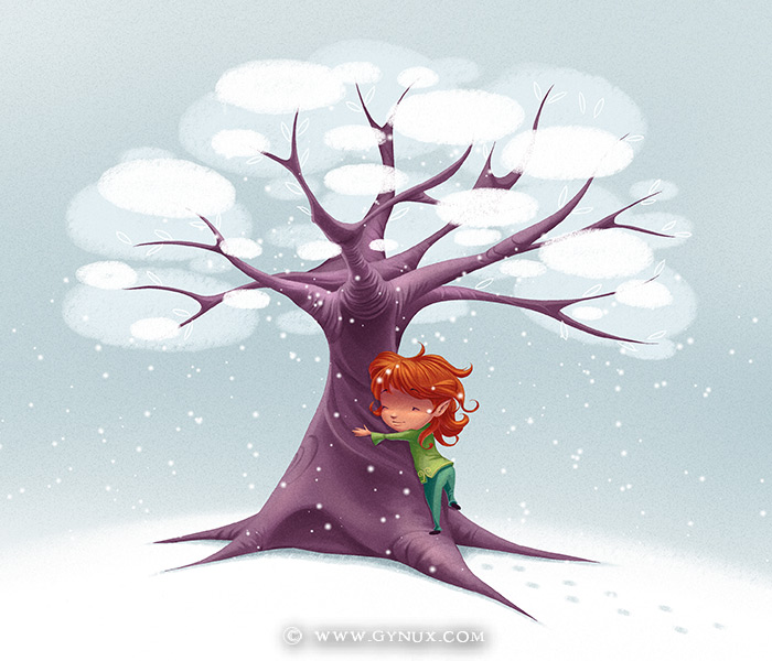 Time to hug the Snow Tree