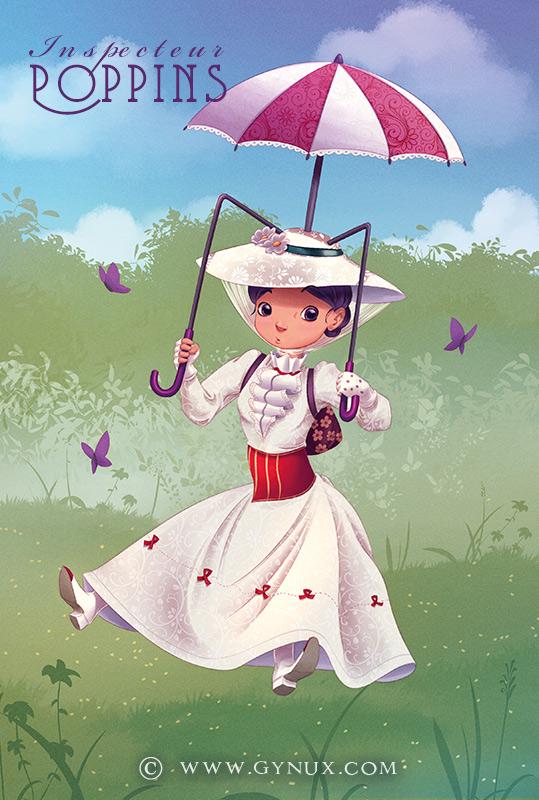 Mary Poppins - inspector Gadget