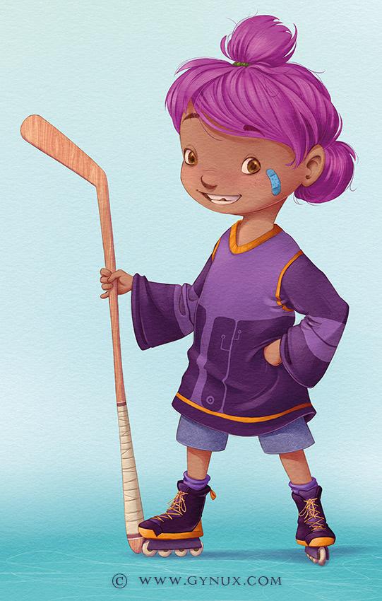 A zippy street hockey player